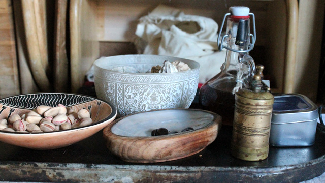 The Greek Kitchen Ecosystem - still life of ingredients